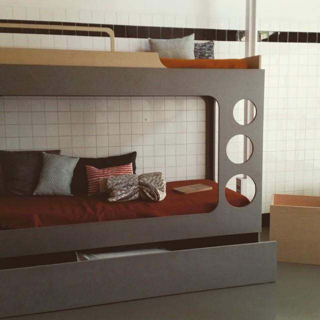 Furniture design by Leticia Marañon#design #studio #furniture #antigua #panaderia #cool #deco #bedroom #bunkbed #children #offwhite #muebles #diseño #art #arte #madrid
