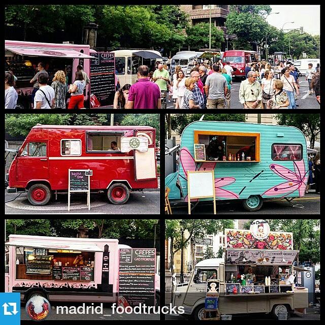 Recuerdos de ayer … #Repost @madrid_foodtrucks・・・• Hoy en el evento de #distrito_01 en la calle Ortega y Gasset • Encuentro de moda y food trucks •@mapetitecreperie@lachulonafoodtruck@kitchen154 #madridfoodtrucks #foodtrucklovers