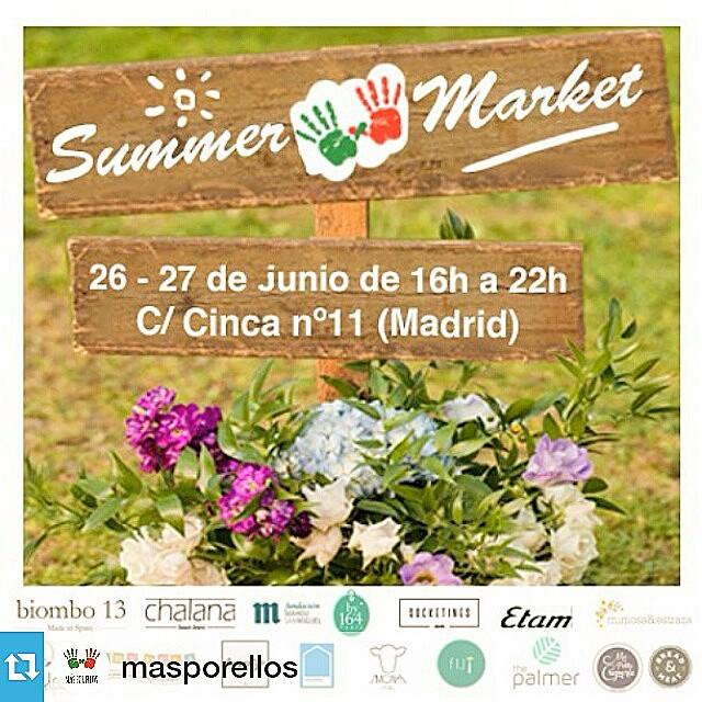 #Repost @masporellos・・・¡Ya está aquí el Summer Market de Más Por Ellos y @kubuka_ngo ! Por segundo año consecutivo, durante el viernes 26 y el sábado 27 de junio, desde las 16h y hasta las 22h, podréis disfrutar del verano madrileño en un precioso jardín.Contaremos con 13 puestos en los que encontraréis, entre otras cosas, moda para ellas y ellos, zapatos, bisutería y complementos, cosas de bebés, artesanía… Además, nos acompañará @mapetitecreperie con sus deliciosas crepes y helados ecológicos y también habrá una barra de bebidas para poder hacer frente al sol y al calor. A partir de las 19:30h y hasta las 21:30h, ambos días, habrá música en directo, gracias a los muchos artistas que han decidido acompañarnos este año, y a las 17:00h, también ambos días, contaremos con un taller para niños organizado por Baby Deli.A la entrada, se os pedirá un donativo de 1€. Todos los fondos recaudados se destinarán a la construcción de un nuevo cuarto para 14 niños en Lisha Children's Home, la casa de acogida de Más Por Ellos en Tala (Kenia). El Summer Market es uno de los eventos en los que más ganas e ilusión ponemos, porque nos da la oportunidad de juntar a todos nuestros amigos, colaboradores y seguidores en un ambiente agradable y festivo. ¡Os esperamos a todos con los brazos abiertos, y gracias por compartir el evento!Participan:@anandlee · @by164 · @babydeli · @biombo13 · @chalanabeachbrand · @colovrs · @etam · @fijispain · Food Nomads · Fundación Mahou San Miguel · @liveyourlifeclothing · @mapetitecreperie · @mimosayestraza · @simonastore · @socketines · @the_palmer