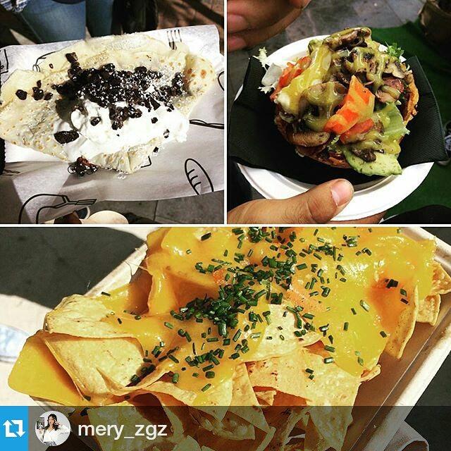 Plan gastronomico….@catatruck @lasnaves Hoy hasta las 00hrs y mañana domingo ultimo dia de 12 a 6pm#gastroblog #gastronomia #ñamñam #foodple #FoodPic #food #foodporn #foodart #gastro #zaragoza #spain #comida #deli #delicious #impresionante