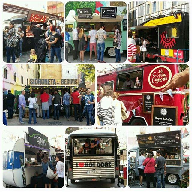 Nos levantamos con flashback de un fin de semana de autentico Street Food en Zaragoza!! Maravilloso lugar @lasarmaszaragoza  y una organizacion exquisita @catatruck #weekend #zaragoza #igerszgz #españa #catatruck #zgzguia #mapetitecreperie #igers #foodtrucks #streetfood #festival