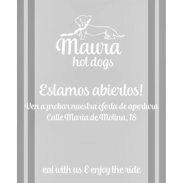 Nuestro pequeño gran proyecto @maurahotdogs Os esperamos a todos con unos hot dogs y unas crepes hechas con mucho mimo y amor.#mariademolina #madrid #hotdog #crepes #opening #apertura #miercoles #emocion #ilusion #madewithlove #gourmet #top