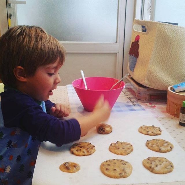 Home made cookies#sabados #saturday #family #cookie #homemade #madewithlove #galletas #bakery #home #madrid #igersmadrid #ñam #deli