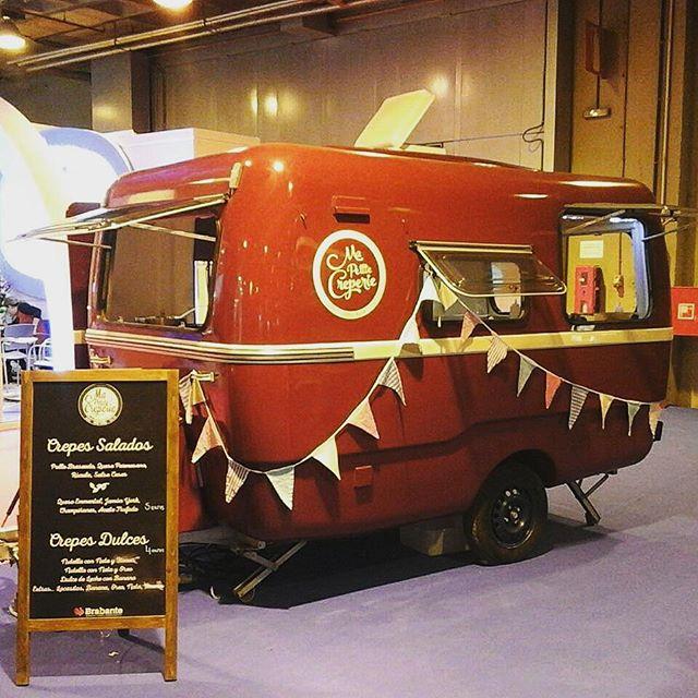 Mañana ultimo dia de #fitur en #IfemaOs esperamos en nuestro #foodtruck con #crepes dulces y saladas.#ifema #madrid #igersmadrid #food #crepe #feria #caravan #vintage #dulce #salada