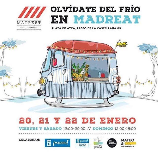 ¡¡¡¡Próxima parada 🏻 Madreat – Azca !!!! La mejor variedad gastronómica de Madrid en un solo lugar @madreatmarket #madreat #Azca #foodie #streetfood #madrid #plan #crepes #streetfood #gastronomia #foodtruck