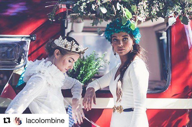 Compartir con equipazos nos hace muy felices , nuestra caravana siempre quiere estar presente en tus mejores momentos 📸🏼 #MapetiteCreperie #Repost @lacolombine with @repostapp・・・En nuestras producciones siempre contamos con lo mejor de lo mejor. En esta foto de @elenabau_fotografia , Manuela con tocado de @mimokishop , vestido de @cortanabrides , y cinturón y pendientes de @spanishandsisters Y Carlota con vestido de @carmenhalffter , tocado de Mimoky y ambas maquilladas y peinada por @anareynatorrobamakeup La caravana ideal es de @mapetitecreperie y las flores de nuestra queridas @lasastreriadelasflores
