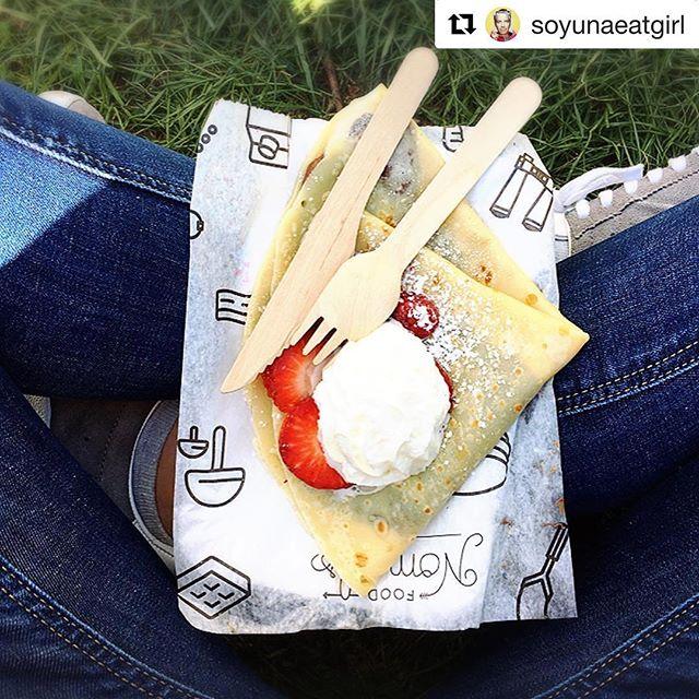 Sol ️ + Nutella  + Fresas  + Crepe = ¡Perfección!…#Repost @soyunaeatgirl・・・Tiempo para un delicioso crep de @nutella @nutella.es y fresas  en @mapetitecreperie en @madreatmarket en #madrid Veredicto 🏻#soyunaeatgirl #food #foodie #foodies #foodtruck #foodiegirl #comida #dessert #postre #placeresdelavida #comeresunplacer #comoluegoexisto #ayhquetecomo #ñamñam #omaquerico #aquihemosvenidoacomer #ansiaviva