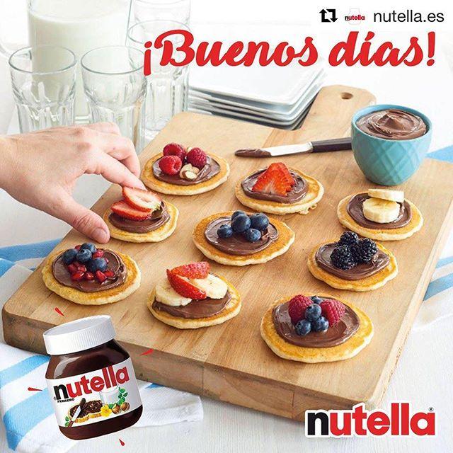 Desayuno de campeones para los domingos , ¿a que si?…#Repost @nutella.es with @repostapp・・・Los domingos merecen un desayuno especial con #Nutella :) #breakfast #sundays #weekend #yummy #empiezaeldíaconalegría