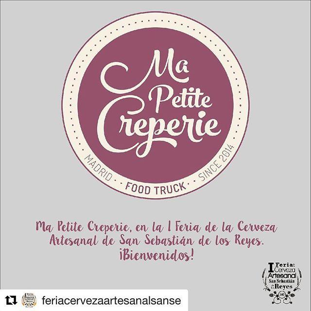 ¡¡Este Finde estaremos en la I Feria de la Cerveza Artesanal de San Sebastián de Los Reyes!! , ¿os animáis a disfrutar este planazo? .. seguro que si …#Repost @feriacervezaartesanalsanse with @repostapp・・・El lado más dulce de la comida callejera: ¡bienvenidos @mapetitecreperie! #craftbeer #foodtrucks #cerveza #beer #beerlover #sanse #sansebastiandelosreyes #madrid #crepes #cervezaartesana #cervezaartesanal #FeriaCervezaSanse